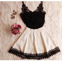 HOT TWO PIECE LACE DRESS