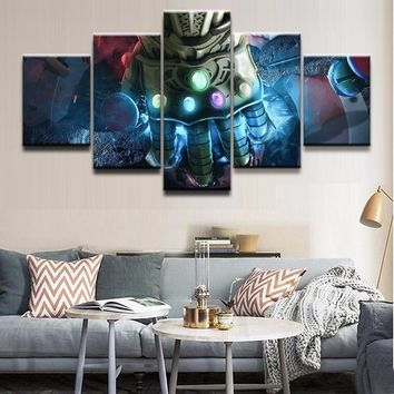 Modern Canvas Pictures Print Wall Art Frame 5 Pieces Movie Poster Avengers Infinity War Home Decor Living Room Or Bedroom Poster