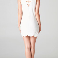 WHITE SCALLOPED DRESS SHOP PUBLIK | PUBLIK | Women's Clothing & Accessories