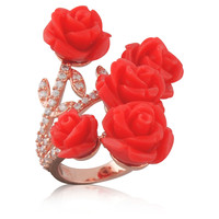 Giardono Coral Ring, Stone & Novelty Rings