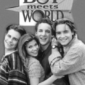 "Boy Meets World Tv Poster Black and White Poster 24""x36"""
