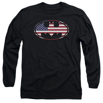 Batman-American Flag Oval - T-Shirts & Tanks