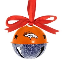 Denver Broncos Jingle Bell Ornament