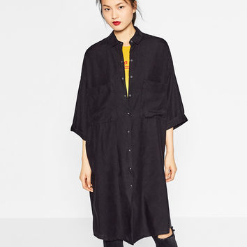 LONG SHIRT DRESS DETAILS