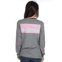Long Sleeve Preptec Logo Tee in Dark Grey by Lauren James - FINAL SALE