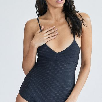 ACACIA Swimwear 2018 Cefalu Mesh One Piece in Black Beauty