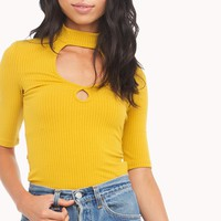 MINKPINK FITTED KEYHOLE TOP | MUSTARD FITTED KEYHOLE TOP | GOING OUT OUTFITS - AKIRA
