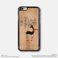 Christmas Milu deer iPhone 6 6Plus case iPhone 5s case iPhone 5C case iPhone 4 4S case Samsung galaxy Note 2 Note 3 Note 4 S3 S4 S5 case 122