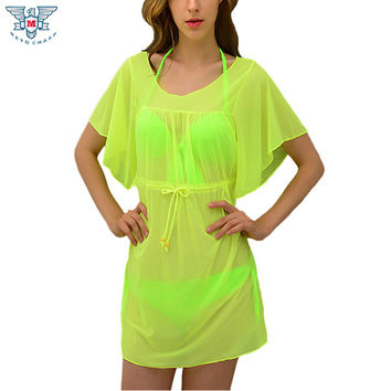 13 Colors ,2016 New Women skirt beach dress Sexy Bikini Swimwear cover-ups plus size bathing suit cover ups summer bathing dress