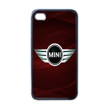 iPhone Case - Mini Cooper Cars Logo Red Background - iPhone 4 Case | Merchanstore - Accessories on ArtFire
