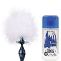 Small Bunny Tail with Plug & Anal Lube