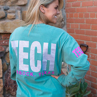 Lubbock, TX TECH in Silver Glitter Long Sleeve