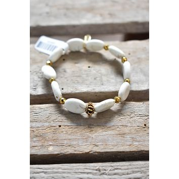Blondie Stack Bracelet, Cream | BPD