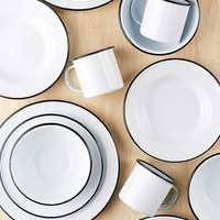 16-Piece Edged Enamelware Starter Kit | Urban Outfitters
