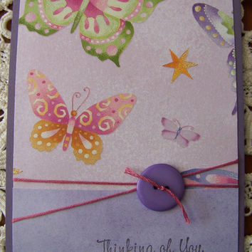 Thinking of you greeting card by EllieMarieDesigns on Etsy
