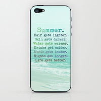SUMMER iPhone & iPod Skin by M✿nika  Strigel	 | Society6