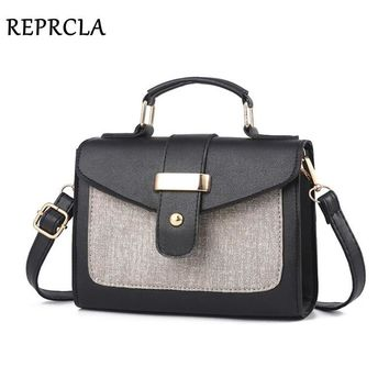 REPRCLA 2018 Fashion Shoulder Bag Leather Handbag Small Flap Women Messenger Bags High Quality PU Crossbody Bags Ladies Purse