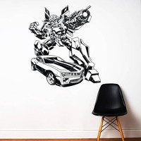 Transformers Wall Decal,Prime Wall Sticker,Bumblebee wall decal,Kids Wall sticker,Bedroom Wall Sticker,Nursery wall decal kau 256