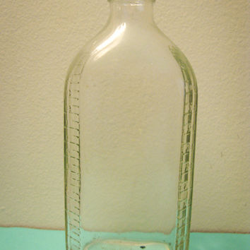 Vintage SaniGlass Science Glass Bottle by timepassagesshop on Etsy