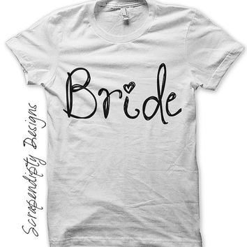 Iron on Personalized Bride Shirt - Wedding Iron on Transfer / Women Bride Wedding Shirt / Wedding Day Clothes / Bachelorette Party IT414-C