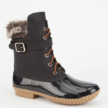 Adriana Dylan Womens Duck Boots Black  In Sizes