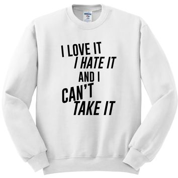 "Louis Tomlinson / Bebe Rexha ""Back to You - I Love It I Hate It And I Can't Take It"" Crewneck Sweatshirt"