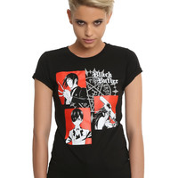 Black Butler Sebastian Ciel Grell Portrait Girls T-Shirt