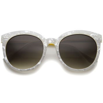 Women's Oversize Round Marble Cat Eye Sunglasses A241