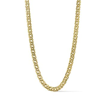 Ares- Flat Weave Gold Chain Necklace