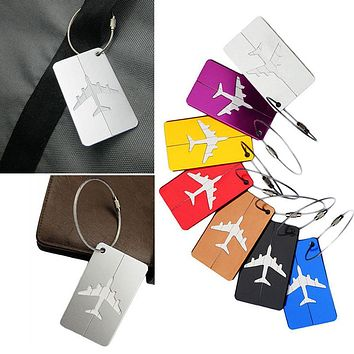 Airplane Square Shape ID Suitcase Tag
