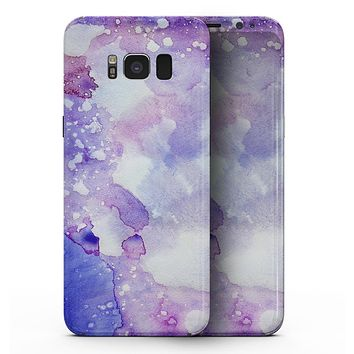Blue 4 Absorbed Watercolor Texture - Samsung Galaxy S8 Full-Body Skin Kit