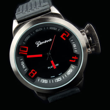 "Mens Tire Tread Exotic Racing Watch ""Geneva"""