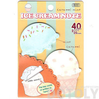 Ice Cream Cupcake Memo Pad Post-it Sticky Bookmark Notepads in Green | Cute Affordable Food Themed Stationery