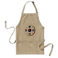 Taegeuk, Taiji, the Great Ultimate, the yin-yang T Adult Apron