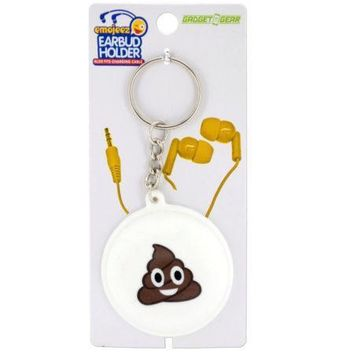 Emoticon Earbud & Cable Holder Key Chain (Available in a pack of 24)