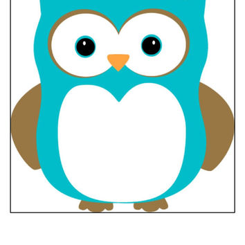 Instant Download, Owl Cross Stitch, PDF Pattern, Cross Stitch Pattern, Teal Owl, Owl Pattern