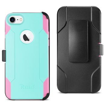iPhone 8 3-In-1 Hybrid Heavy Duty Holster Combo Case (Mint Green)