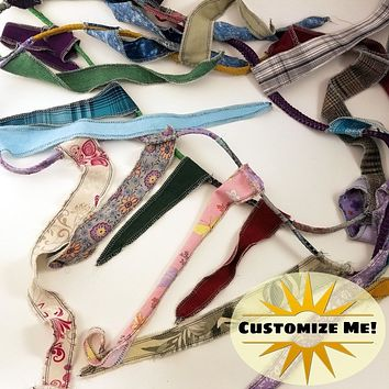 Gypsy Banner, Hippie Flag, Fabric Rag Garland, Choose Your Length, Bohemian Decor, Upcycled
