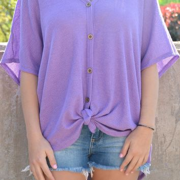 On The Go Top - Violet