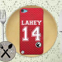 Teen Wolf Inspired Isaac Lahey Red Jersey Lacrosse Beacon Hill Rubber Case iPod 5th Generation and Plastic Case For The iPod 4th Generation