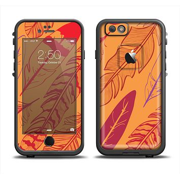 The Orange and Red Vector Feathers Apple iPhone 6 LifeProof Fre Case Skin Set