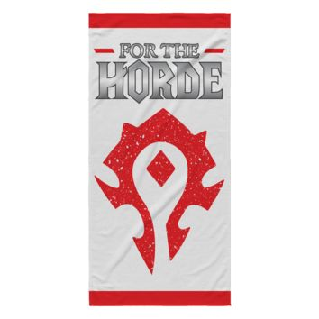 "World of Warcraft ""For the Horde"" Beach Towel"