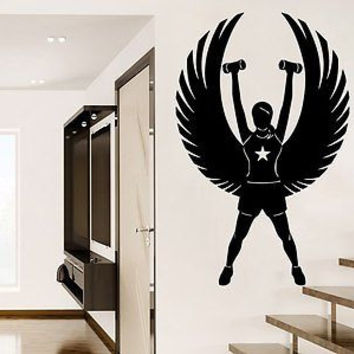 Fitness Wall Decal Sports Girl Sport Wall Decals Vinyl Stickers Teens C275