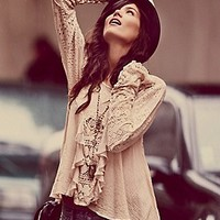 Free People  Ruffled Whimsy Top at Free People Clothing Boutique