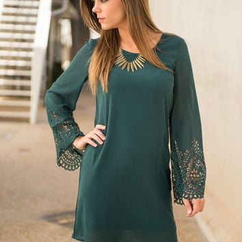 Charm And Grace Dress, Forest Green