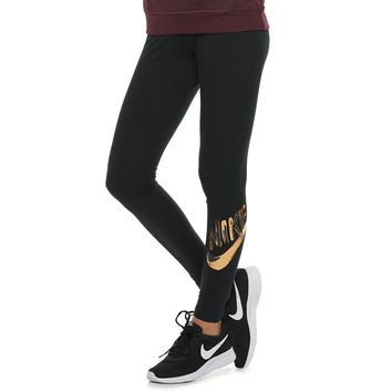 Women's Nike Sportswear Metallic Graphic Midrise Leggings