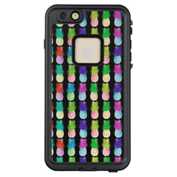 Colorful pop art painting pineapple pattern LifeProof® FRĒ® iPhone 6/6s plus case