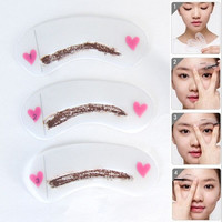 3 styles reusable Eyebrow stencil pencil for eyebrows enhancer drawing guide card brow template DIY make up tools