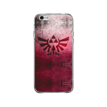 ZELDA GRUNGE CLEAR PHONE CASE for iphone 4s/5s/6s/6s plus