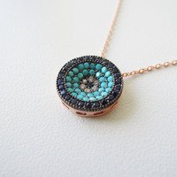 Evil eye necklace - evil eye jewelry turquoise - Turkish evil eye - gifts for mom - Birthday Gifts - womens - mom gift - mothers day husband